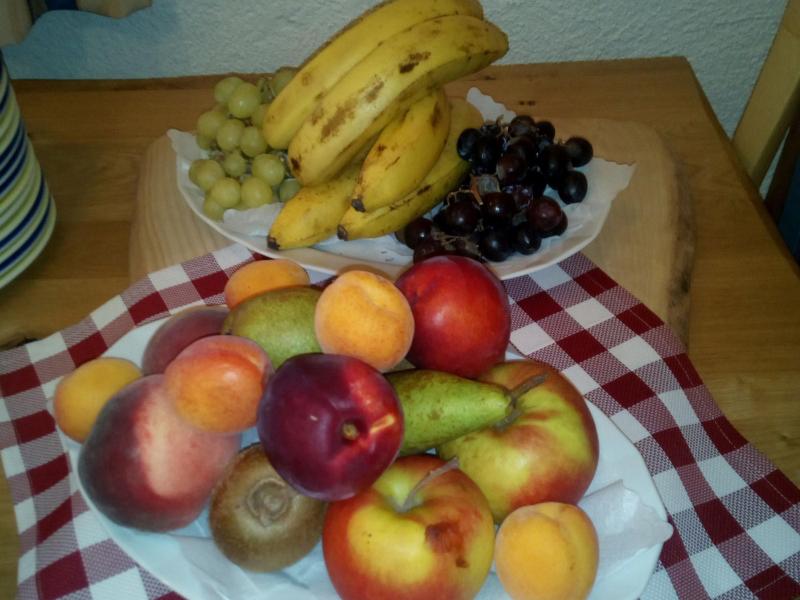 Frisches Obst zum Frühstück im Berggasthof Sonne   Berggasthof Sonne in Sonthofen